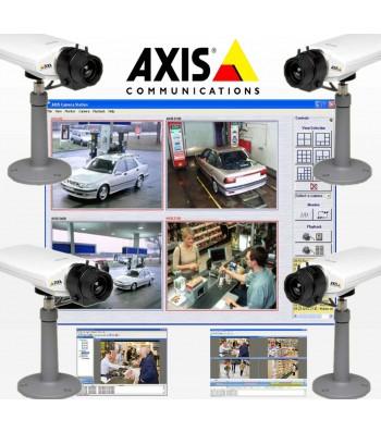 kit AXIS 4 cameras IP internet pour surveillance en réseau