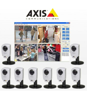 Pack visio IP Axis PRO 8 caméras