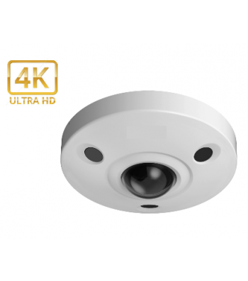 Caméra IP UHD 4K Fisheye 360° 12 Mégapixel