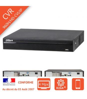 Enregistreur numerique HDCVI 4 Megapixel 4/8/16 voies