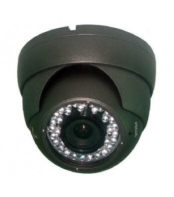 Caméra dôme infra rouge haute résolution 1000TVL IR30m 2.8-12mm (noire)