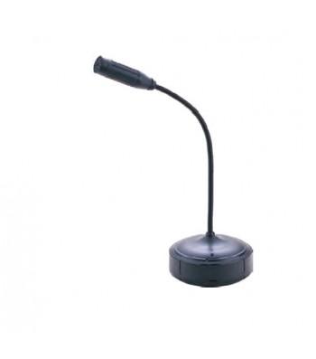 Caméra espion dans un microphone sur pied
