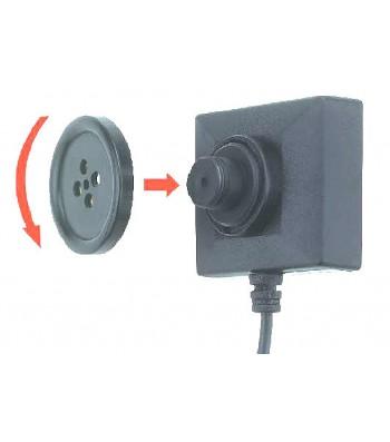 "Micro caméra espion CCD type Bouton"" BU12"
