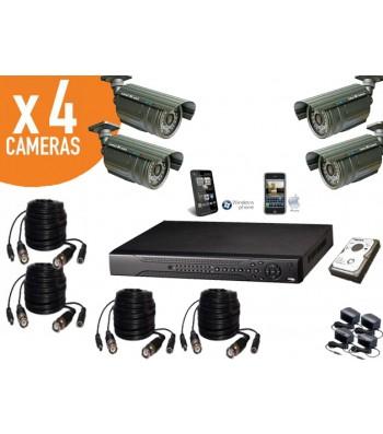Kit video surveillance installation facile consultation videosurveillance ip et iphone caméras infrarouge haute résolution