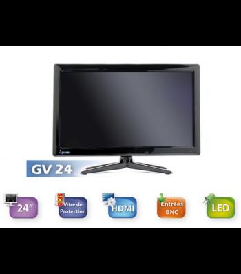 Ecran TFT LCD Moniteur VIDEO CCTV 24 pouces IPURE GV24 avec BNC