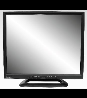Ecran TFT LCD Moniteur VIDEO CCTV 17 pouces IPURE HX17 avec HDMI et x2 BNC