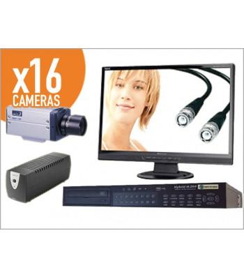 kit 16 caméra video surveillance jour nuit