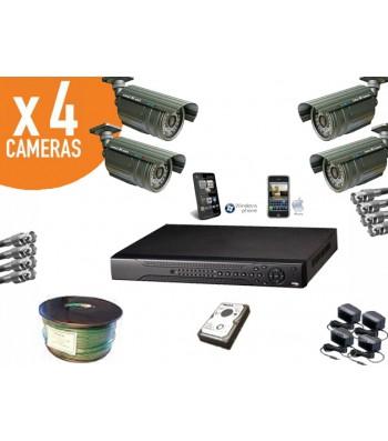 Kit video surveillance vision ip et iphone caméras infrarouge haute résolution