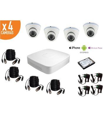 Kit videosurveillance discount caméra intérieure dôme 800TVL