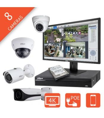 Kit video surveillance IP 8 voies interieur exterieur Megapixel