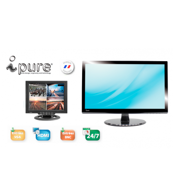 Moniteur video surveillance BNC Ipure V