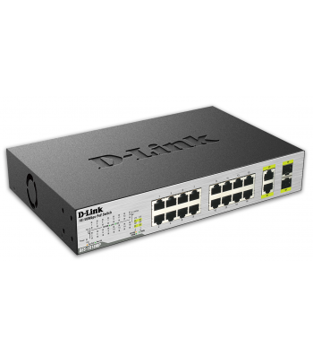 Switch Ethernet 16 ports PoE Gigabit 10/100 Mbps + 2 combo ports 1000 Mbps