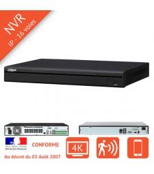 Enregistreur numerique IP NVR 16 voies PoE 4K
