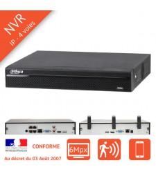 Enregistreur numerique IP NVR 4 voies PoE ou Wifi
