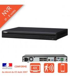 Enregistreur numerique IP NVR 8 voies PoE 4K