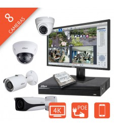 Kit video surveillance IP 8 voies interieur exterieur Megapixel