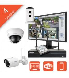 Kit videosurveillance IP sans fil Wifi megapixel