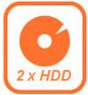 enregistreur IP NVR 2 emplacements disque dur