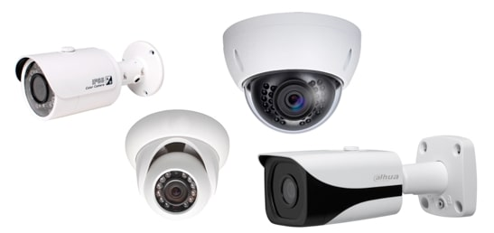 Kit video surveillance IP - camera IP Dahua