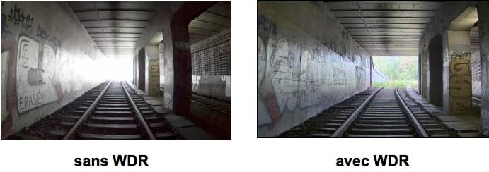Camera IP comparaison WDR contre-jour