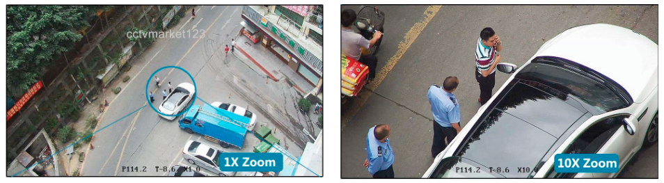 Caméra surveillance motorisée PTZ analogique zoom x10