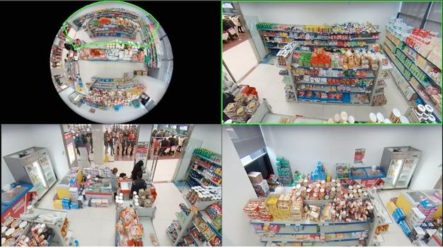 Caméra IP fisheye vue multiple 360°