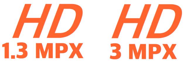 Caméra IP HD 1,3Mpixel / 3 Mpixel
