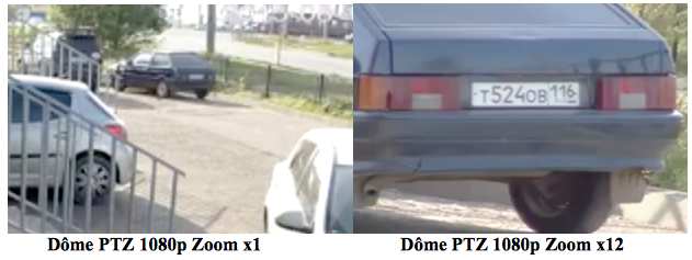 Dôme PTZ Full HD 1080p Zoom X12