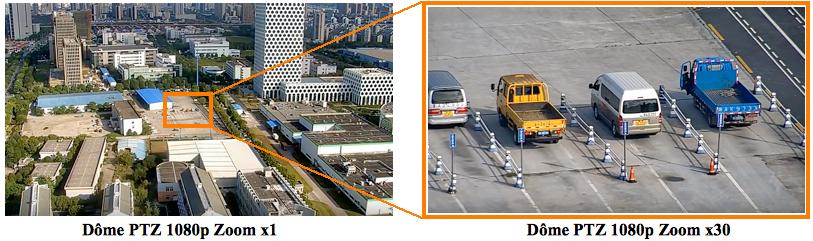 Caméra IP motorisée PTZ infrarouge Zoom X30