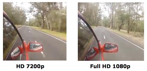 Comparaison camera surveillance HD 720 et Full HD 1080p