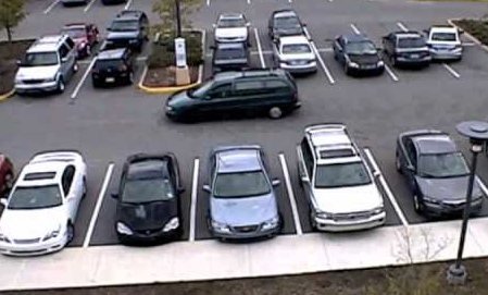 caméra surveillance parking