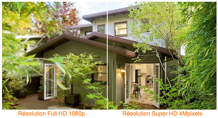 Comparaison camera HD-CVI Full HD 1080p et camera HDCVI 4MPixel - copie