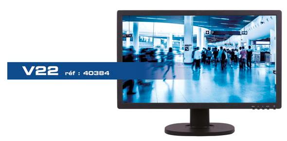 moniteur video surveillance BNC Ipure V22