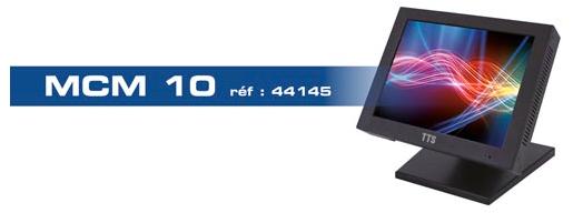 Moniteur video surveillance BNC châssis métal Ipure MCM10