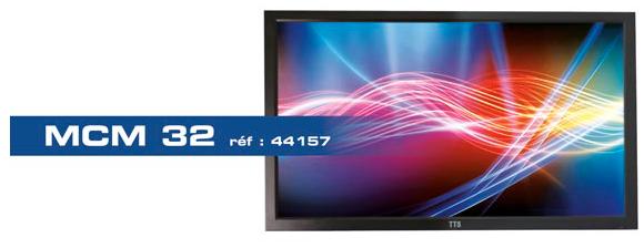 Moniteur video surveillance BNC châssis métal Ipure MCM32