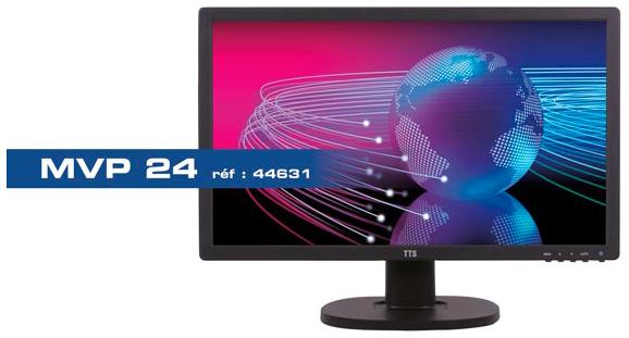 Moniteur video surveillance BNC avec vitre de protection Ipure MVP24
