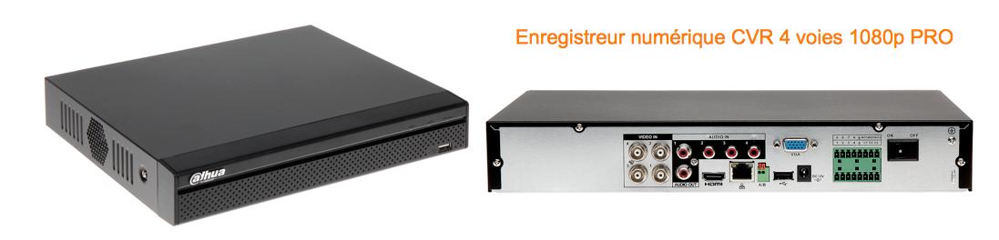 Enregistreur numérique CVR HDCVI 1080p Pro audio PTZ alarme