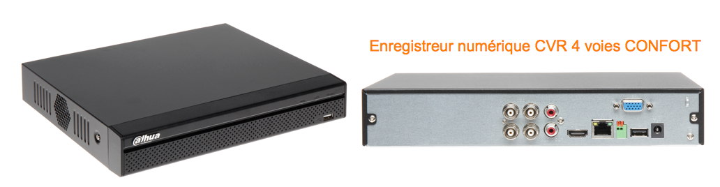 Enregistreur numérique CVR HDCVI audio et PTZ Confort