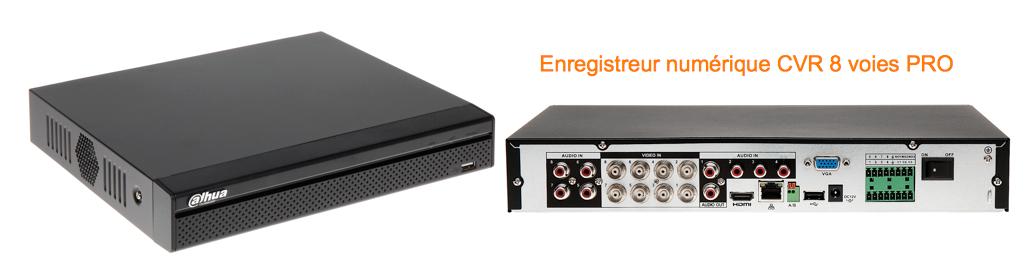 Enregistreur HD-CVI Full 720p audio PTZ et alarmes PRO