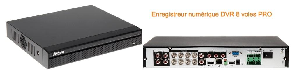 Enregistreur numerique DVR Dahua H264 RS485 contact alarme pro