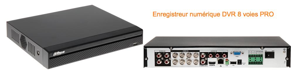 Enregistreur numerique DVR H264 RS485 contact alarme pro