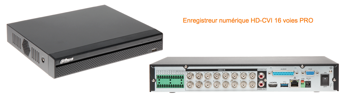 Enregistreur numerique HDCVI H264 RS485 contact alarme pro