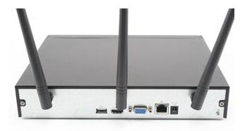 Enregistreur numerique IP wifi sans fil 4 voies Dahua - façade arriere