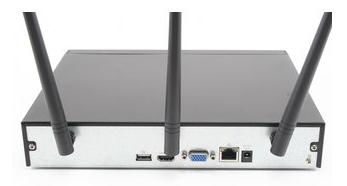 Enregistreur numerique IP wifi sans fil 4 voies - façade arriere