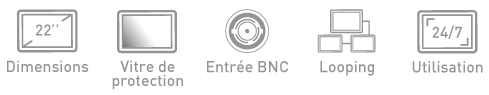 Fonction ecran BNC Ipure MVP22
