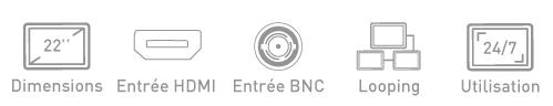 Fonction ecran BNC Ipure V22