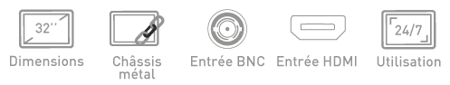 Fonction moniteur BNC Ipure MCM32