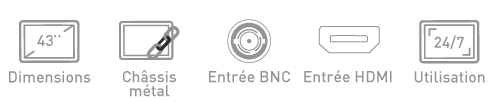 Fonction moniteur BNC Ipure MCM43