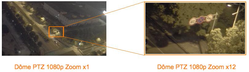 Camera dôme PTZ jour / nuit Zoom x12