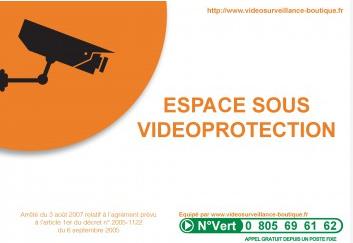 autocollant signalétique videosurveillance